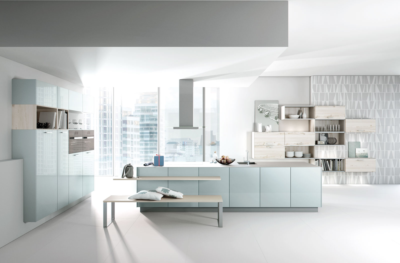 Meble kuchenne na wymiar Baby Blue - kuchnie w ofercie SAS Wnętrza i Kuchnie
