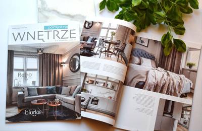 Aranżacja mieszkania w kamienicy, projekt architekt wnętrz Emilia Strzempek Plasun - publikacja w czasopiśmie Pomysł na wnętrze