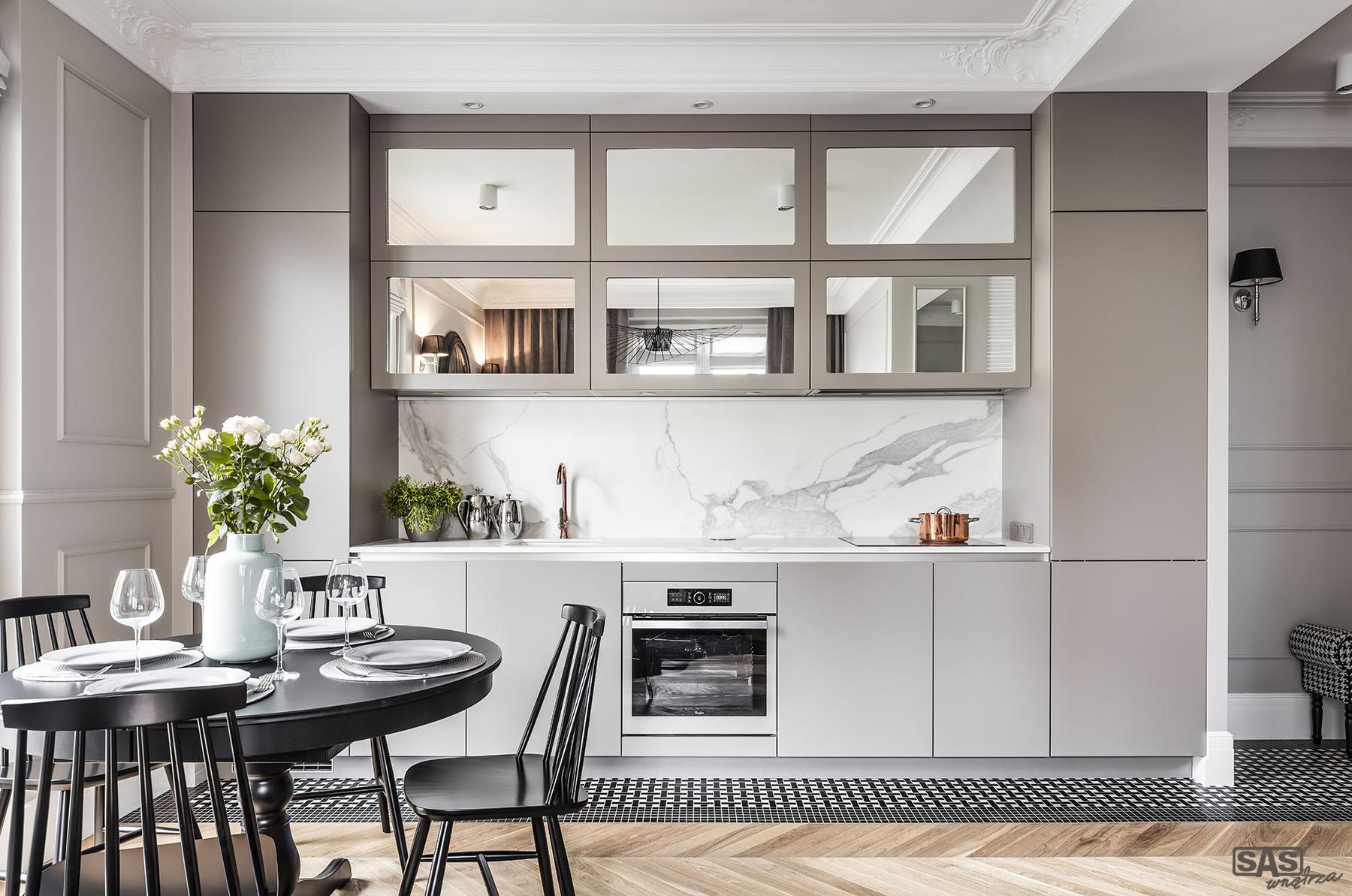 Meble kuchenne pod wymiar Gabriel - meble kuchenne w wykonaniu SAS Wnętrza i Kuchnie - projekt architekt wnętrz Emilia Strzempek Plasun.