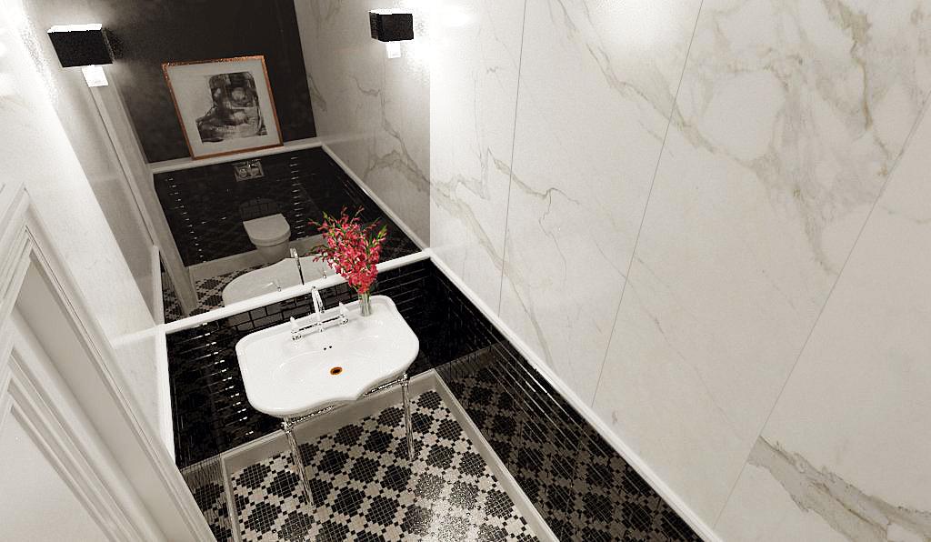 Aranżacja łazienki w mieszkaniu - projekt architekt wnętrz Emilia Strzempek Plasun