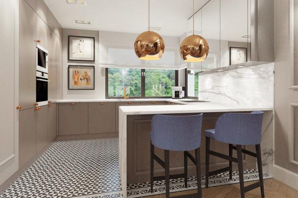 Meble kuchenne na wymiar - kuchnia w mieszkaniu jednorodzinnym - kuchnie w ofercie firmy SAS Wnętrza i Kuchnie