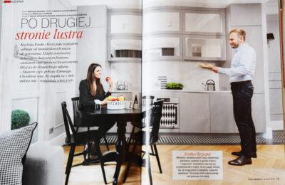 Publikacja w czasopismie wnętrzarskim - aranżacja kuchni i meble kuchenne Gabriel - SAS Wnętrza i Kuchnie