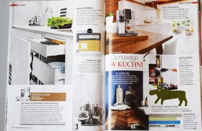 Publikacja w prasie branzowej - architekt wnętrz Krzysztof Plasun