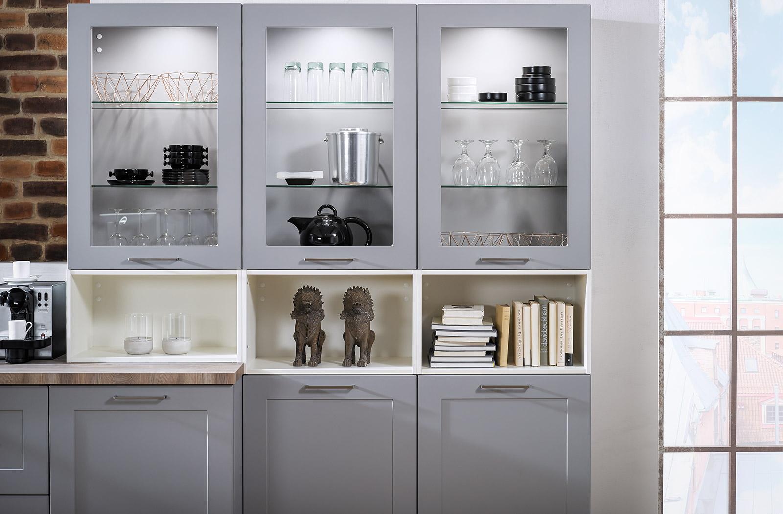 Meble kuchenne Lotus - witryna - oferta SAS Wnętrza i Kuchnie - Meble Kuchenne i Projektowanie wnętrz.