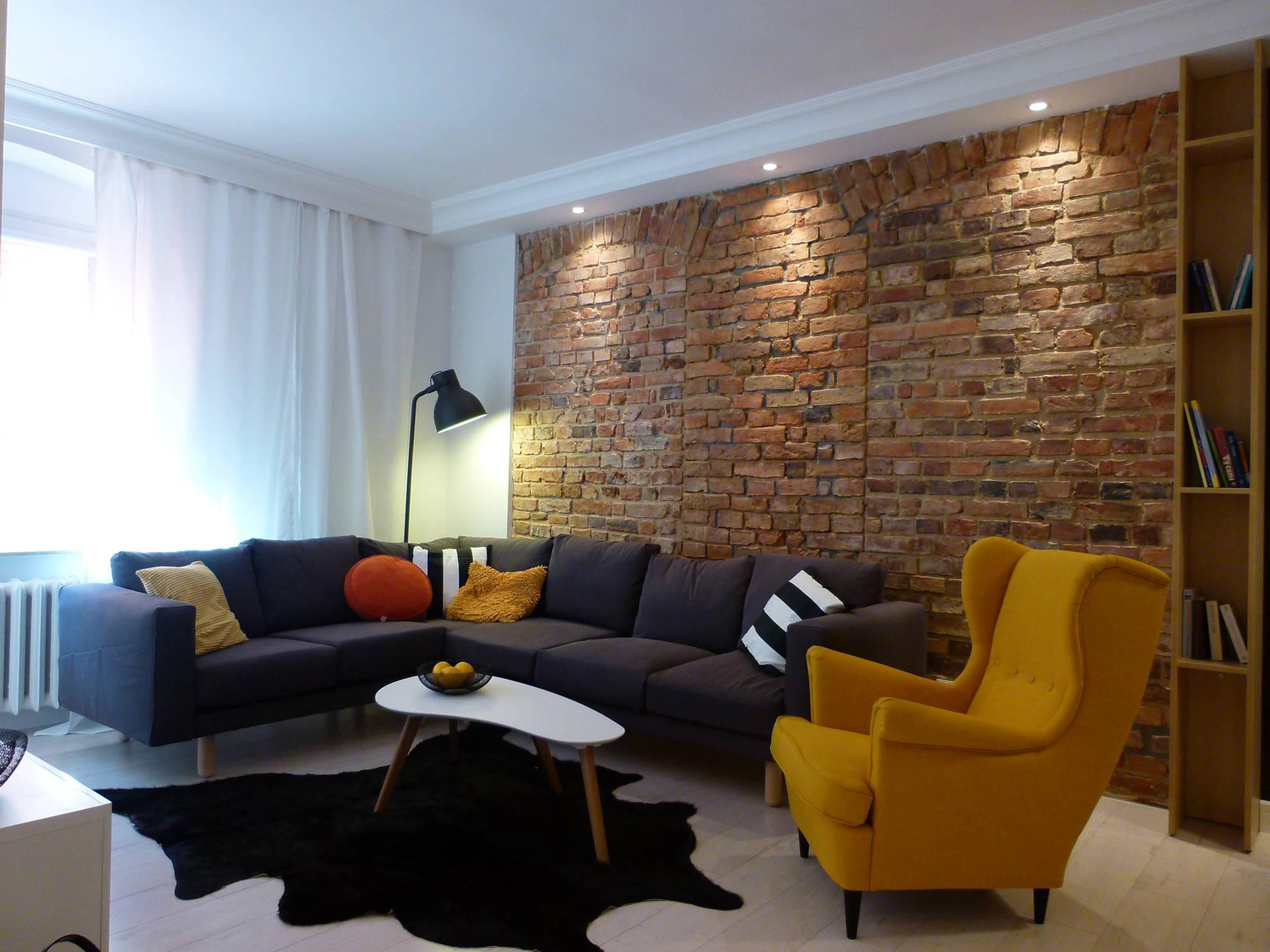 Aranżacja salonu w mieszkaniu - projekt architekt wnętrz Emilia Strzempek Plasun.
