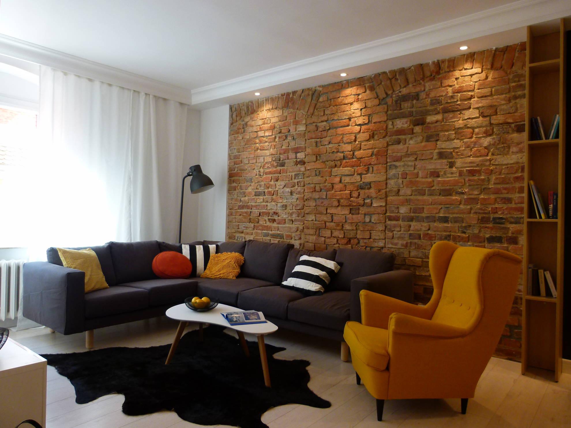 Aranżacja salonu - projekt architekt wnętrz Emilia Strzempek Plasun.