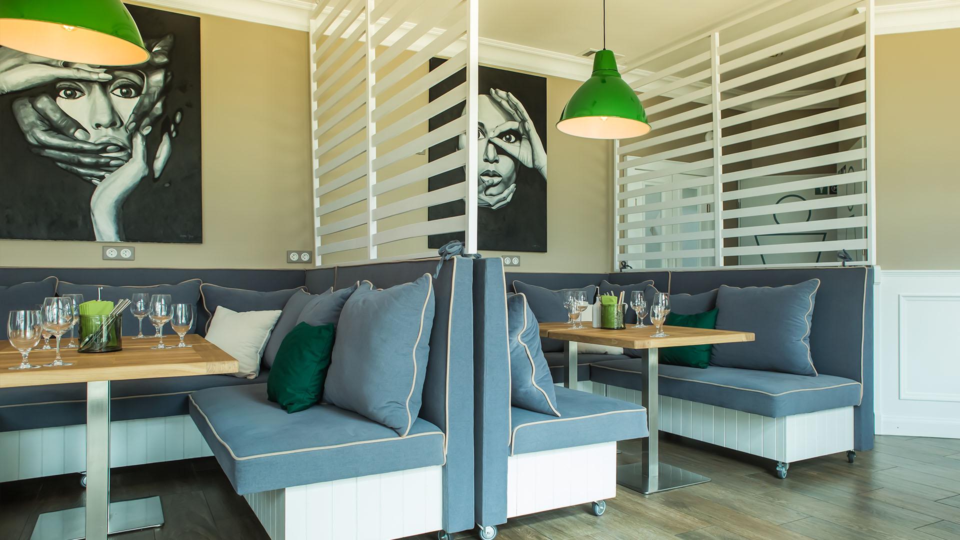 Wnętrze restauracji - wykonanie projektu architekt wnętrz Emilia Strzempek Plasun