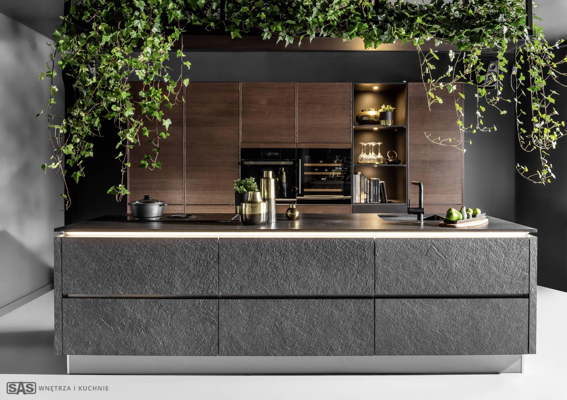 Meble kuchenne Black Star - oferta SAS Wnętrza i Kuchnia, projekt architekt wnętrz Emilia Strzempek Plasun.