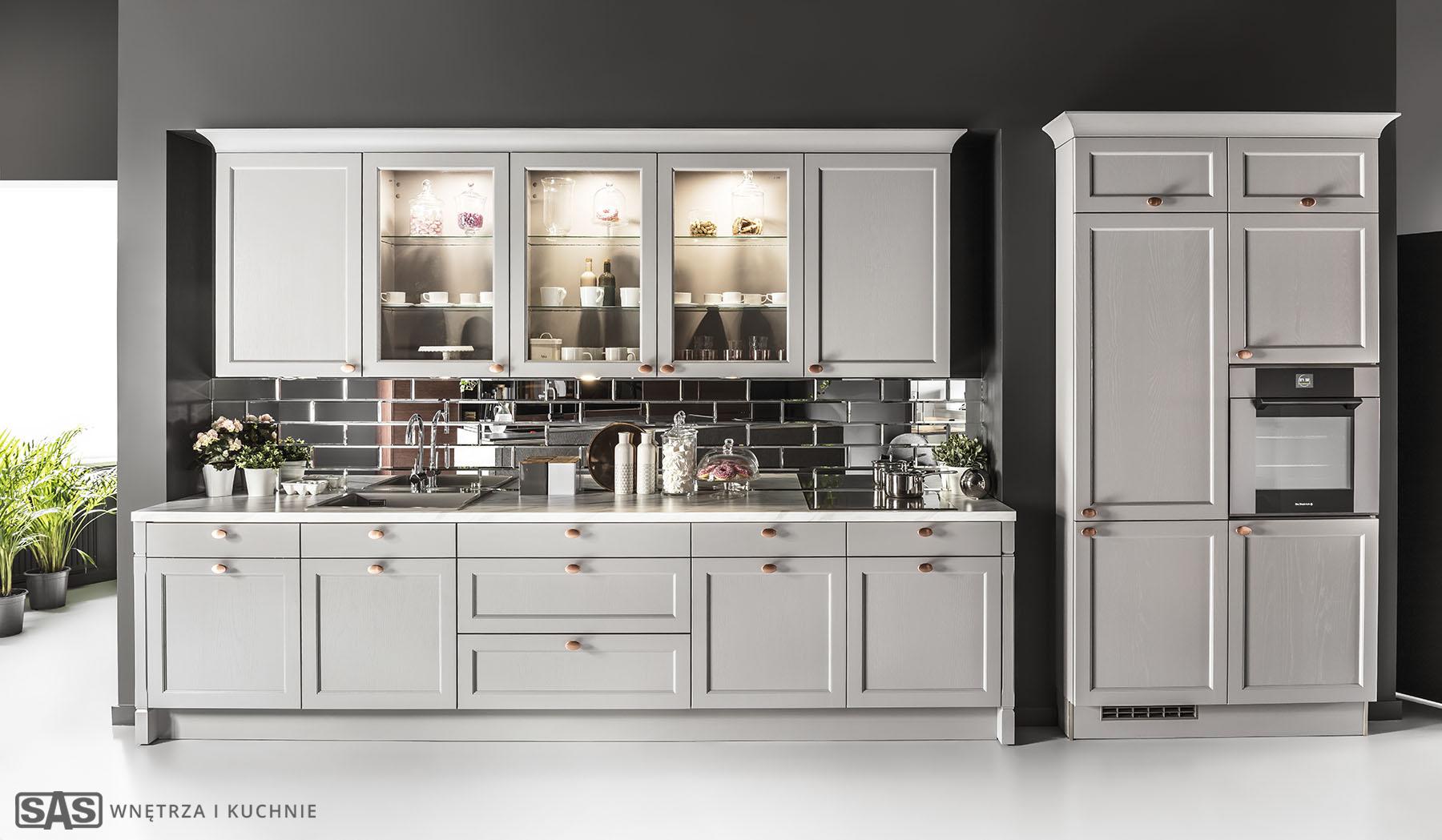 Meble kuchenne na wymiar Bristol - meble kuchenne SAS Wnętrza i Kuchnia, projekt architekt wnętrz Emilia Strzempek Plasun.