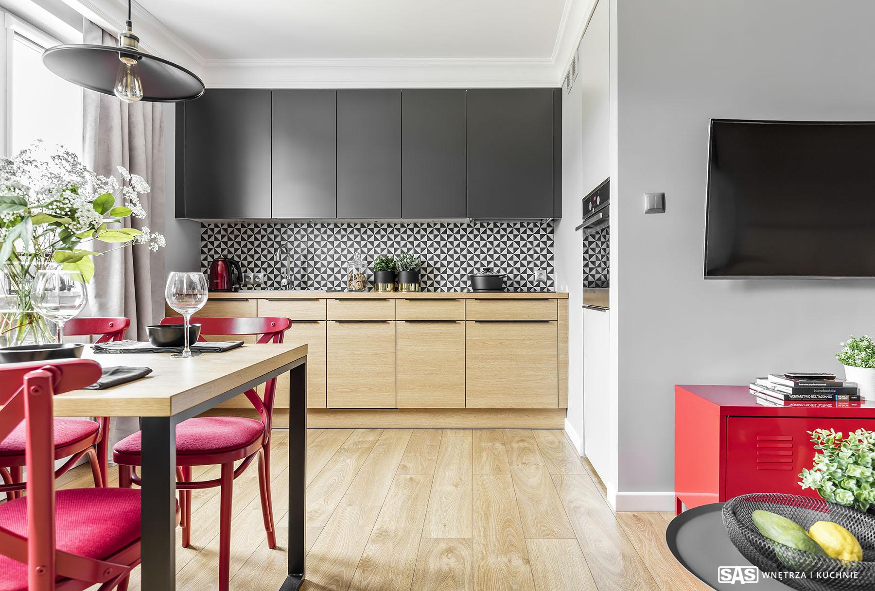 Meble kuchenne na wymiar wykonanie SAS Wnętrze i Kuchnie - projekt architekt wnętrz Emilia Strzempek Plasun.