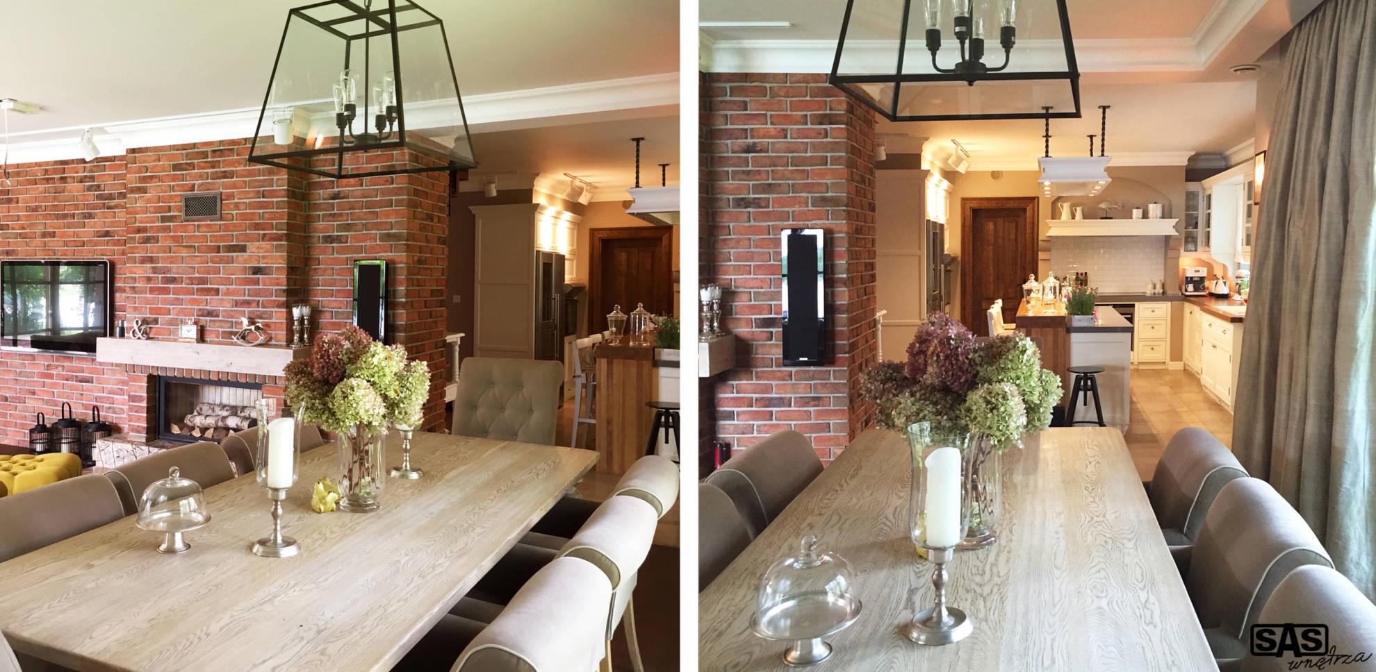 Aranżacja salonu w domu jednorodzinnym - projekt architekt wnętrz Emilia Strzempek Plasun.