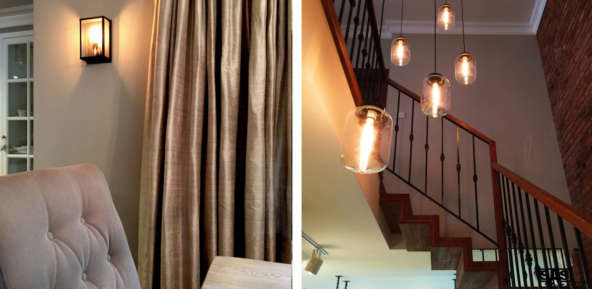 Aranżacja salonu oraz klatki schodowej - projekt architekt wnętrz Emilia Strzempek Plasun.