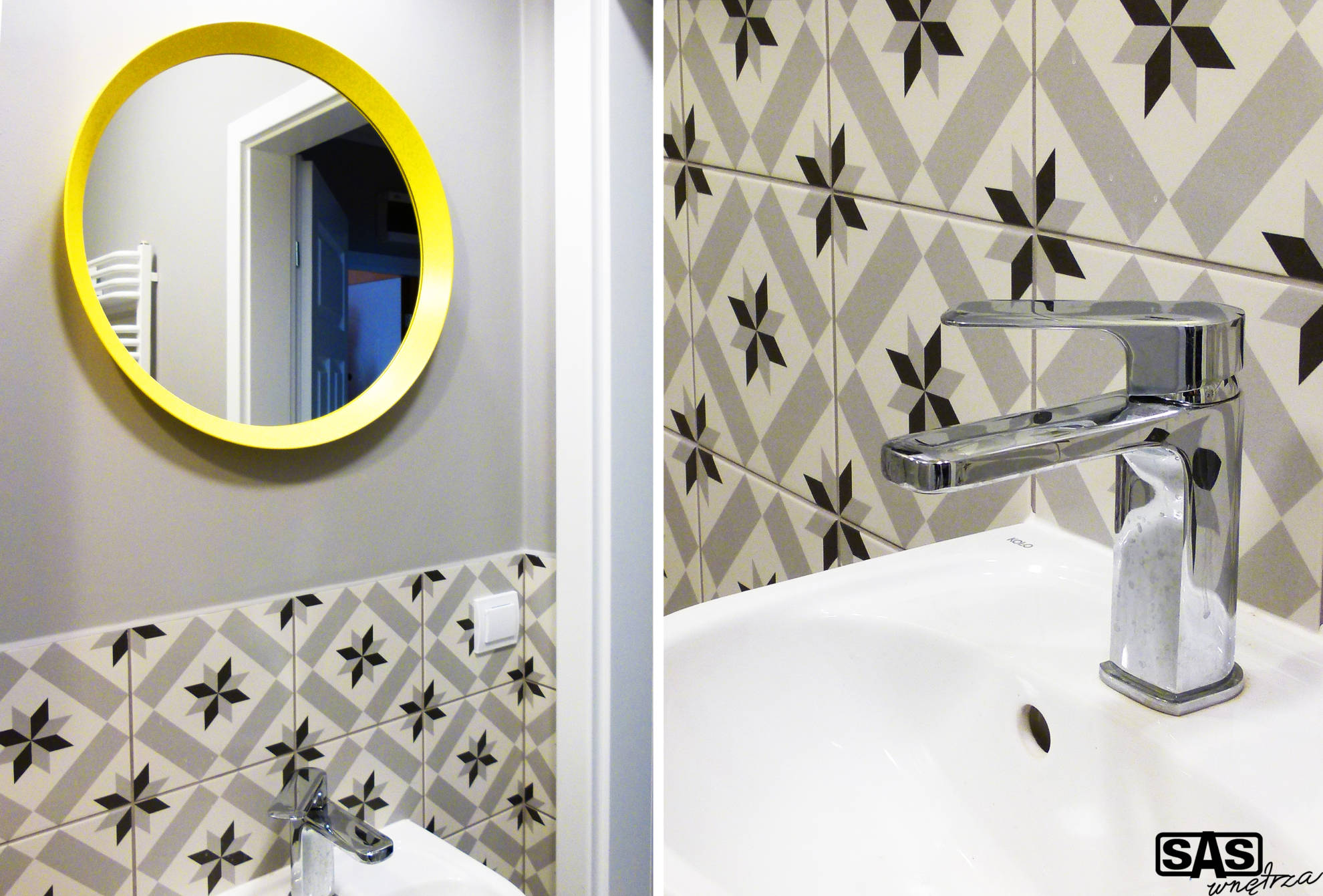 Aranżacja łazienki w mieszkaniu na wynajem - projekt architekt wnętrz Emilia Strzempek Plasun.