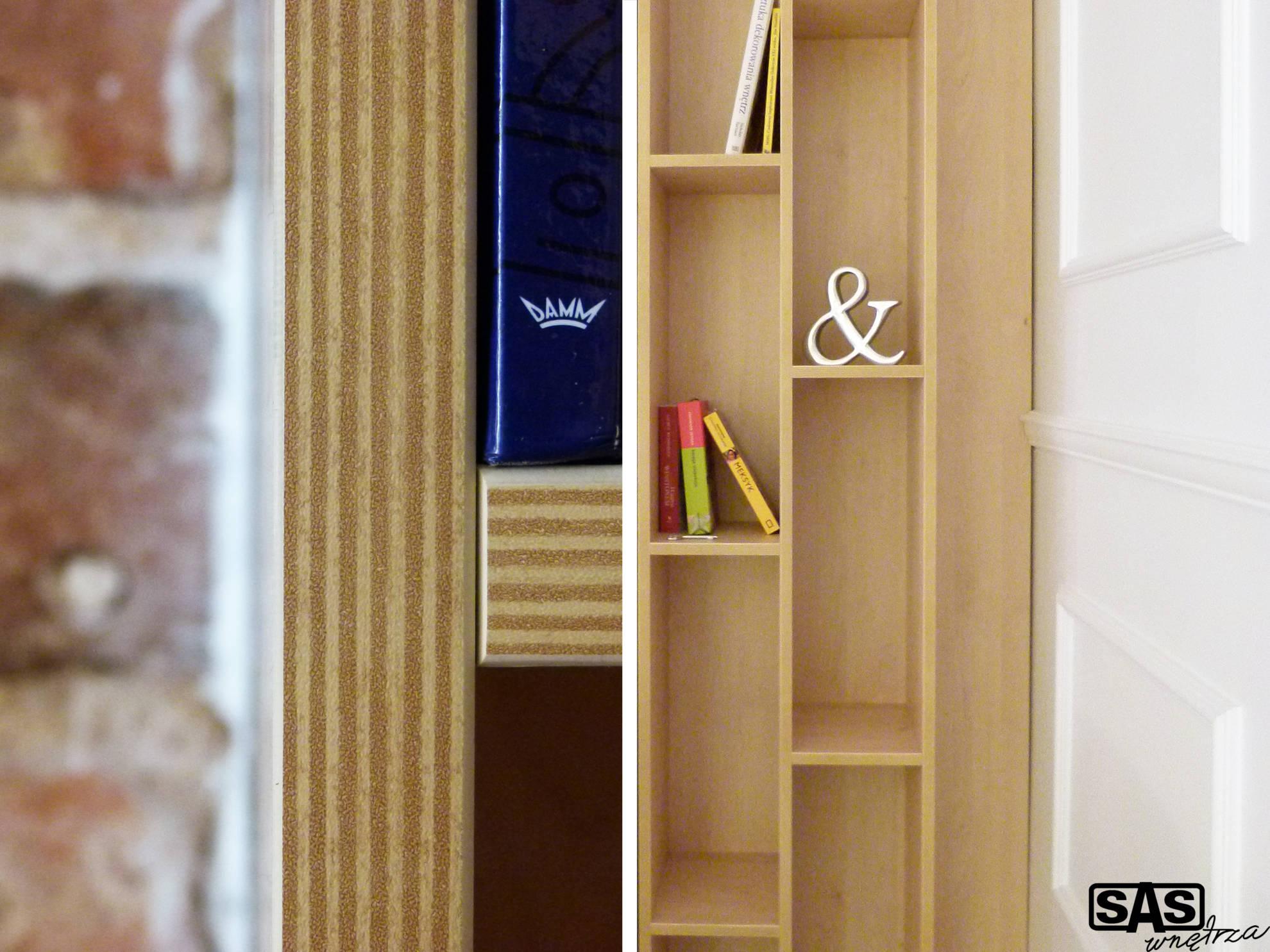 Projekt aranżacji mieszkania na wynajem - zbliżenie na detale - meble kuchenne wykonanie SAS Wnętrza i Kuchnie, projekt architekt wnętrz Emilia Strzempek Plasun.