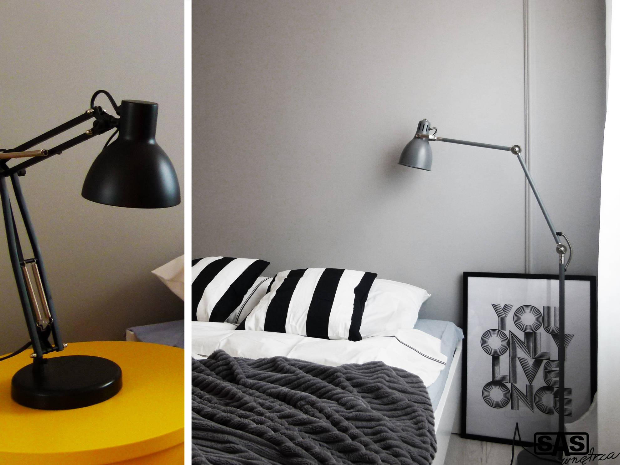 Aranżacja sypialni - projekt architekt wnętrz Emilia Strzempek Plasun.